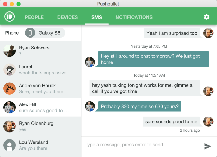 SMS-Pushbullet