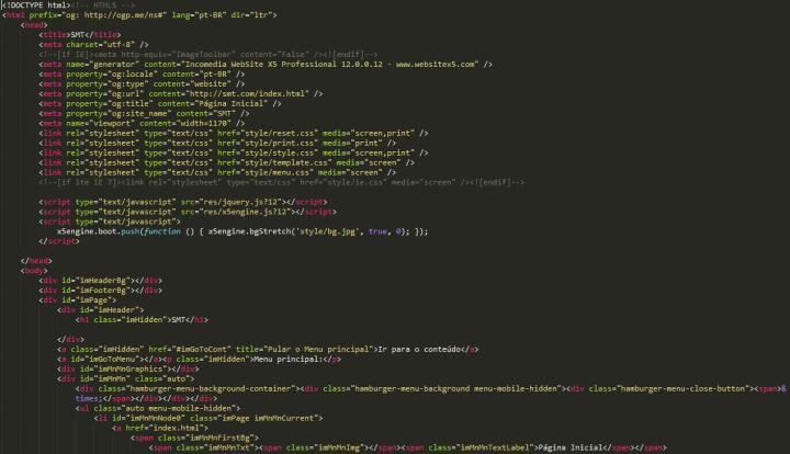 Código gerado pelo programa
