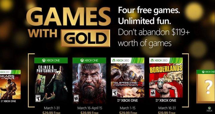 Games With Gold March - Jogos Grátis - Live Março 2016