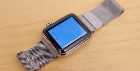Apple Watch rodando Windows 95
