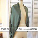 Cozy Cocoon Cardigan Sewing Tutorial