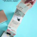 Accordion Book Travel Postcard - Shrimp Salad Circus