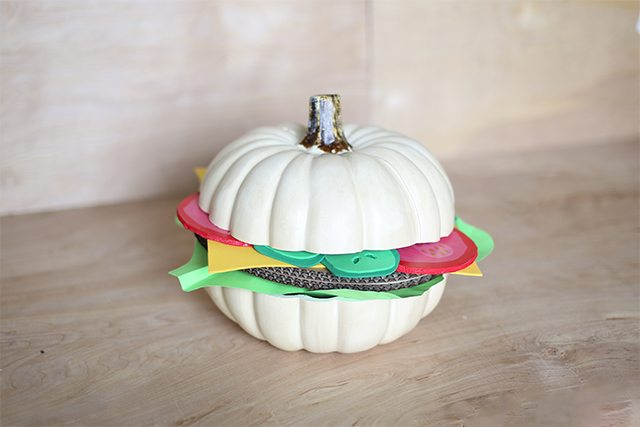 DIY Hamburger Pumpkin Tutorial - Assembly
