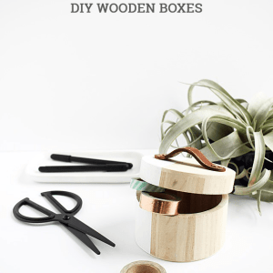 DIY Leather Handles for Wooden Boxes