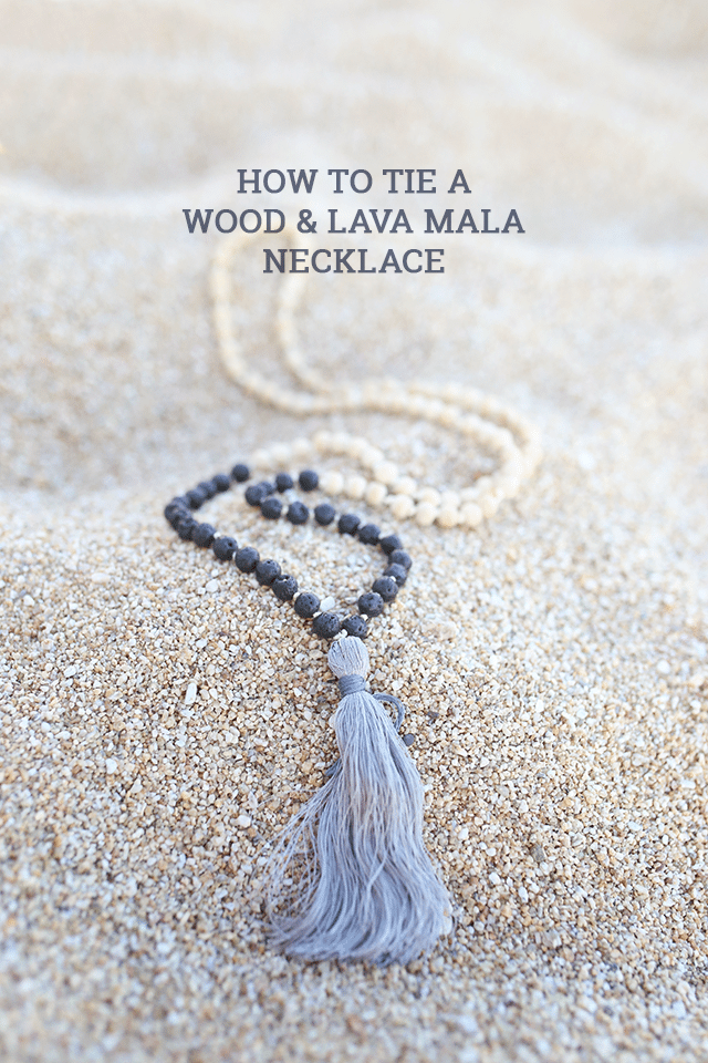 How to Tie a Mala Wooden Bead Necklace - How To-sday