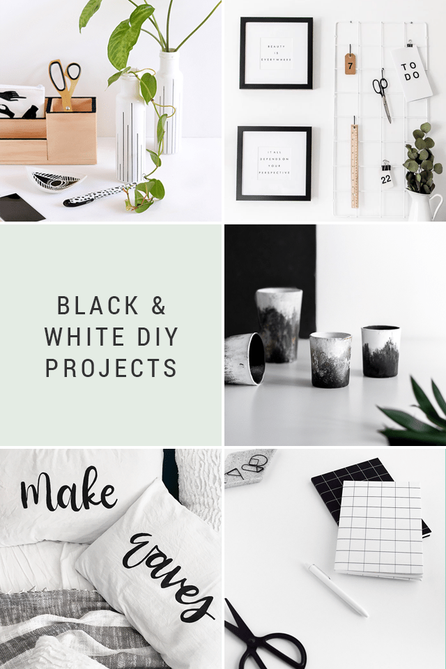Black & White DIY Projects + Favorite Finds No. 88