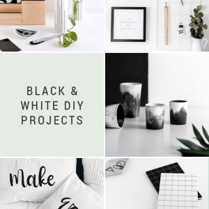 Black and White DIY Projects