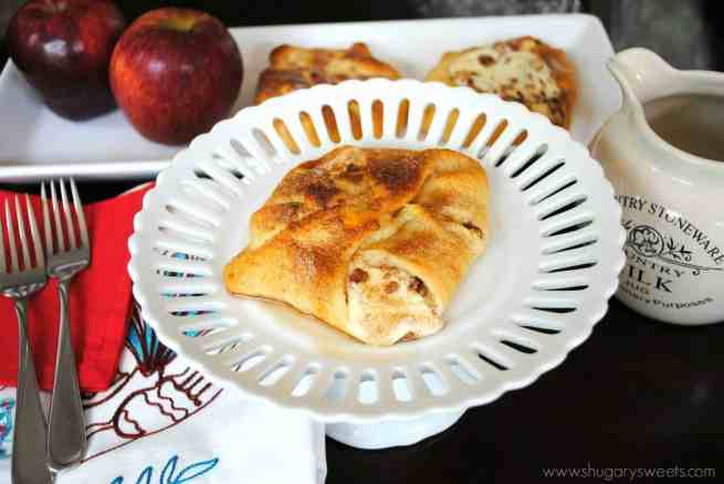 Apple Cheesecake Bundles: breakfast is easy using Pillsbury Crescent rolls with a delicious apple cheesecake filling