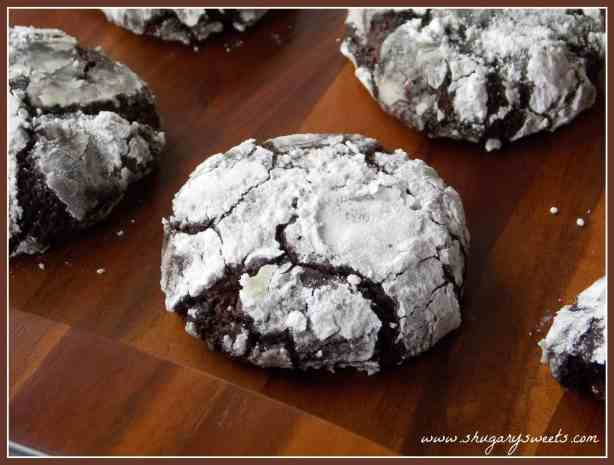 Dark chocolate mint cookies