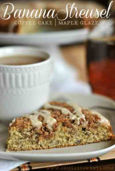 Banana Streusel Coffee Cake: the perfect breakfast for your family and friends, easy to make too! @shugarysweets #banana