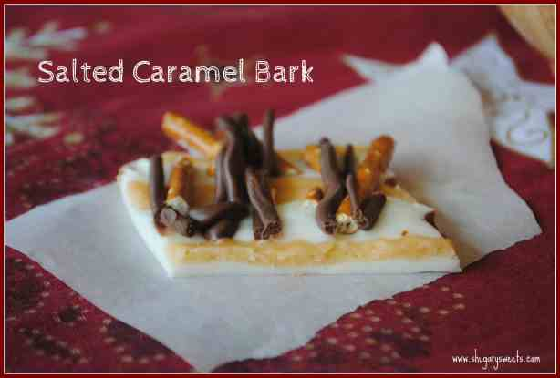 Salted Caramel Bark from @shugarysweets