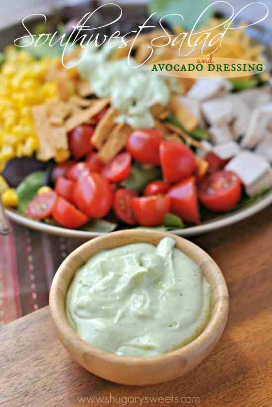Southwest Chicken Salad with a creamy Avocado Dressing
