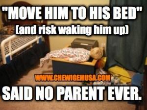 risk waking him up