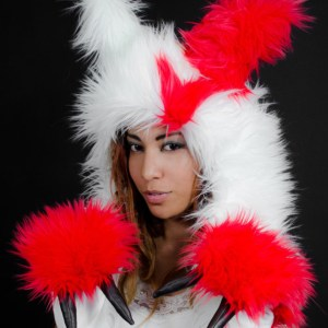 Zangoose Fur Scoodie Pokemon Hooded Scarf Mittens Shut Up And Take My Yen : Anime & Gaming Merchandise