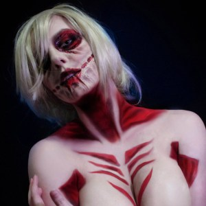 Attack on Titan Female Titan Cosplay Poster Girl Shut Up And Take My Yen : Anime & Gaming Merchandise