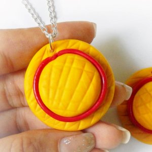 One Piece Luffy Straw Hat Necklace Shut Up And Take My Yen : Anime & Gaming Merchandise