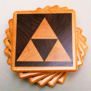 Legend of Zelda Triforce Coasters Shut Up And Take My Yen : Anime & Gaming Merchandise