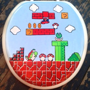Super Mario Toilet Seat Shut Up And Take My Yen : Anime & Gaming Merchandise