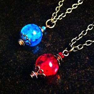 Health And Mana Potion Necklace Shut Up And Take My Yen : Anime & Gaming Merchandise