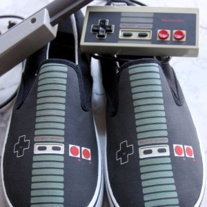 Nintendo Controller Shoes Shut Up And Take My Yen : Anime & Gaming Merchandise