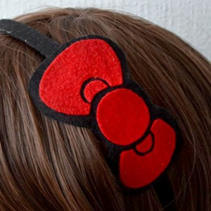 Hello Kitty Bow Headband Shut Up And Take My Yen : Anime & Gaming Merchandise