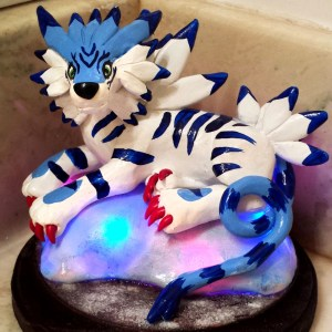 Light-Up Digimon Sculpture Shut Up And Take My Yen : Anime & Gaming Merchandise