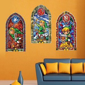 Zelda Stained Glass Wall Decals