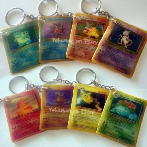 Pokemon Card Keychains