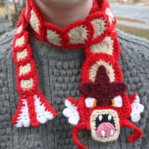 Pokemon Crocheted Gyarados Scarf