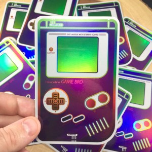 Holographic Gameboy Sticker