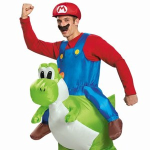 Super Mario Riding Yoshi Inflatable Costume