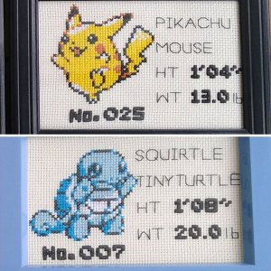 Pokemon Pokedex Cross Stitch Patterns