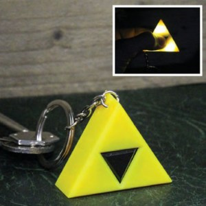 Zelda Triforce Light Up Keychain