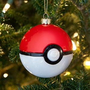 Pokemon Pokeball Glass Ornament Set