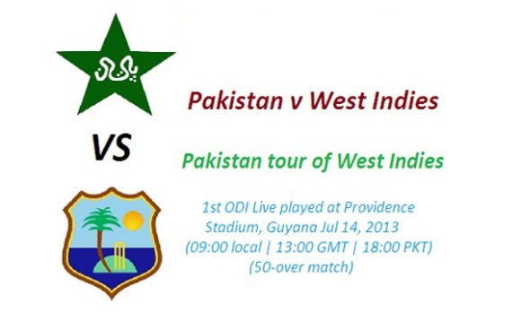 Pakistan vs West Indies 1st ODI Cricket Match Live Streaming