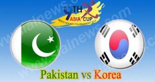 Pakistan vs Korea 15th Hockey Match Asia Cup 2013