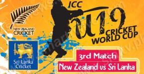 New Zealand vs Sri Lanka 3rd Cricket Match Under-19 World Cup 2014 Live Streaming