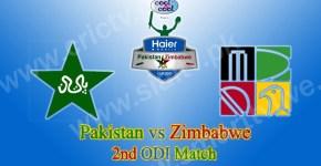 Pakistan vs Zimbabwe 2nd ODI Match Live
