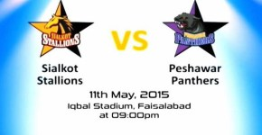 Sialkot Stallions vs Peshawar Panthers T20 Cup 2015 Match Live
