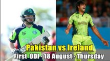 Pakistan vs Ireland 1st ODI Match Live Streaming