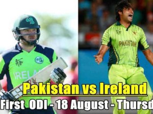 Pakistan vs Ireland 1st ODI Match Live Streaming