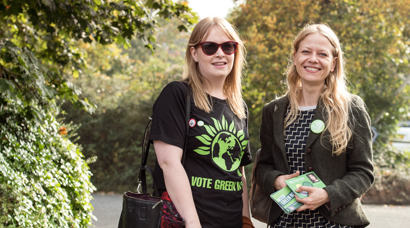 Sian with Green Party activists