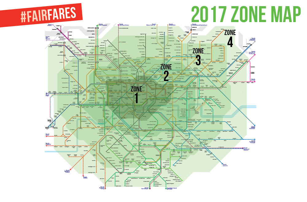 London needs FairFares join our campaign Sian Berry AM – London Travel Zone Map