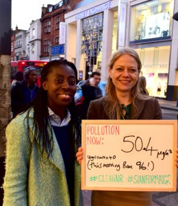 Sian Berry and Esther Obiri-Darko in Putney