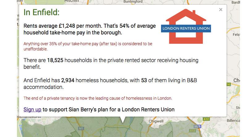 Rents map