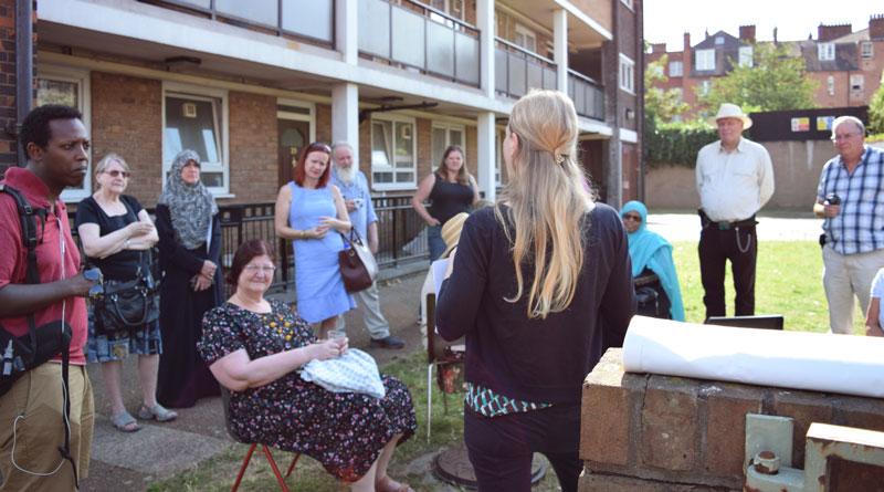 Visiting West Kensington andGibbs Green residents