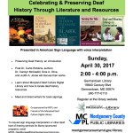 "Come meet Judy at: ""Celebrating and Preserving Deaf History Through  Literature and Resources"" Sunday, April 30, at 2:00 p.m.,  Germantown  Library 19840 Century Boulevard, Germantown, Maryland, 20874"