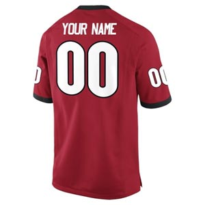 Custom UGA Football Jersey - Red