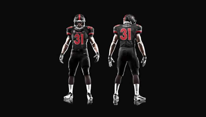 UGA Nike Black Elite Uniform