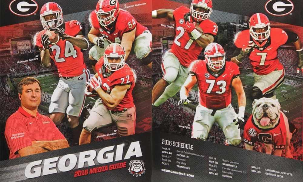 Georgia Bulldogs 2016 Football Media Guide